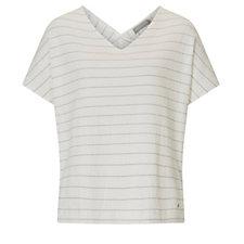 Betty & Co V Neck Short Sleeve Stripe Top