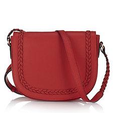 Ashwood Plait Leather Crossbody Bag with Adjustable Strap