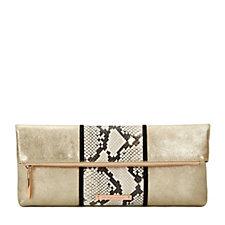 Amanda Wakeley The Hoffman Stripe Large Leather Clutch Bag
