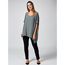Join Clothes Textured Cotton Drape Detail Tunic