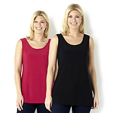 Attitudes by Renee Pack of 2 Longline Camisoles