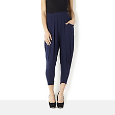 Join Clothes Pleat Front Cropped Drape Trousers