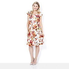 Ronni Nicole Fit & Flare Floral Needleout Lace Dress