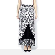 Attitudes by Renee Printed Jersey Maxi Skirt