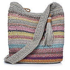 The Sak Casual Classic Crochet Zip Top Crossbody Bag