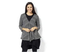 Yong Kim Crochet Cardigan with Patch Pockets