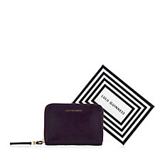 Lulu Guinness Small Grainy Leather Zip Wallet