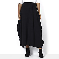 Join Clothes Jersey Skirt with Drape Pocket