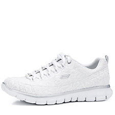 Skechers Synergy Sweet Lace Satin Lace Up Trainers with Memory Foam