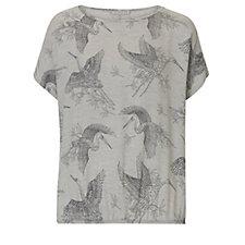 Betty & Co Crane Print Oversized T Shirt