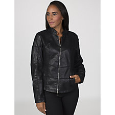 Rino & Pelle Faux Leather Seam Detail Jacket