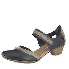 171735 - Rieker Mary Jane Low Heel Hook & Loop Shoe