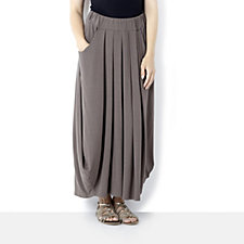 Join Clothes Pleat Front Maxi Skirt with Pocket Detail