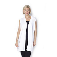 Zip Pocket Knitted Waistcoat by Michele Hope