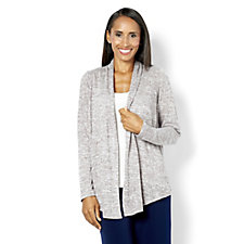 Kim & Co Soft Linen Look Knitted Edge to Edge Cardigan