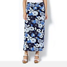 Denim & Co. Printed Skirt
