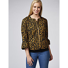 C. Wonder Animal Printed Stretch Pique Jacket
