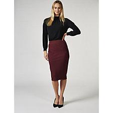 H by Halston Ponte Midi Skirt