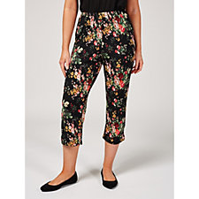 Printed Crop Trousers by Michele Hope