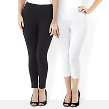 Women with Control Two Pack Legging & Capri Trouser Petite Style