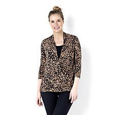 Printed Faux 2 in 1 Wrap Top by Nina Leonard