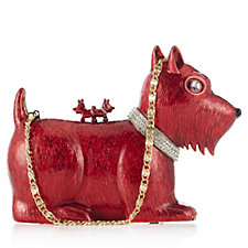 Butler & Wilson Enamel Scottie Dog Clutch Bag