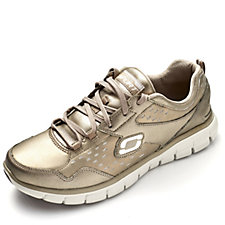 Skechers Sport Synergy Masquerade Metallic Trainer with Memory Foam