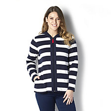 Weekend French Terry Hooded Jacket by Susan Graver