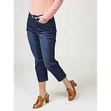 Isaac Mizrahi Live True Denim Cropped Jeans