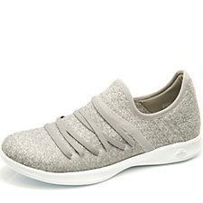 Skechers GO STEP Lite Two Tone Knit Slip On Shoe with Bungee Detail