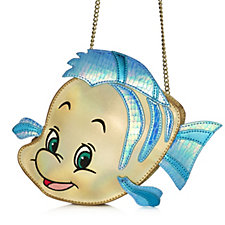 Danielle Nicole Disney Little Mermaid Flounder Crossbody Bag