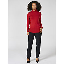 168337 - Ruth Langsford Stretch Trousers with Side Zip Regular
