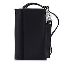 Amanda Lamb Leather Document Holder with Wristlet & Crossbody Strap