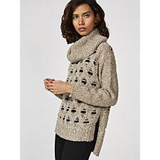 WynneLayers Open Stitch Cosy Cowl Neck Crop Sweater