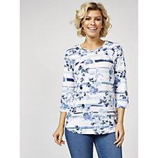 Denim & Co. Shirt Tail Hem Top