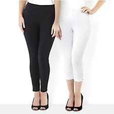 Women with Control Two Pack Legging & Capri Trouser Regular Style