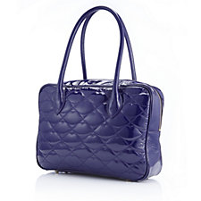 Lulu Guinness Leather Quilted Lips Large Jenny Bag