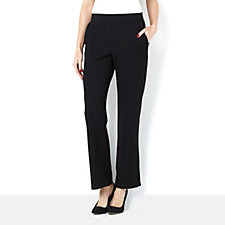 Mr Max Siro Viscose Knit Straight Pant with Faux Leather Trim