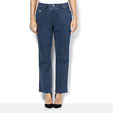 Quacker Factory DreamJeannes Straight Leg Short Length Jeans