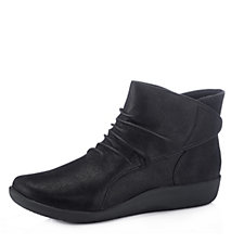 Clarks Sillian Sway Ankle Boots with Wedge Heel Wide Fit