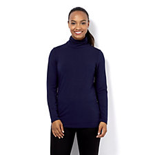 Mr Max Roll Neck Top with Shirring Detail