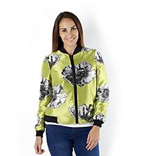 Helene Berman Floral Bomber Jacket
