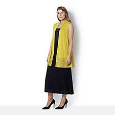 Antthony Designs Burnout Hem Long Waistcoat