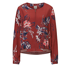 Betty & Co Floral Print Bomber Jacket