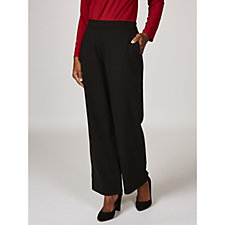 Lustra Crepe Pull-On Wide Leg Trousers by Susan Graver