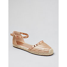 Marc Fisher Graze Flat Espadrille Sandal with Studs