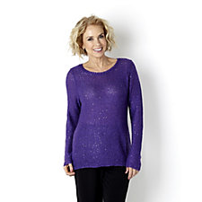 Sparkle Sequin Long Sleeve Knitted Tunic by Michele Hope