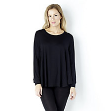 Yong Kim Long Sleeve Full Hem Panel Top