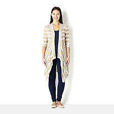 Attitudes by Renee Zig Zag Open Knit Cardigan