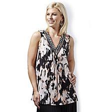 144939 - Fashion by Together Sleeveless Tunic w/ Embellished Neckline